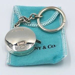 Tiffany Sterling Silver Keychain with Tape Measure